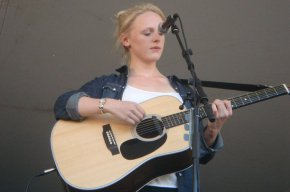 Laura Marling performing at the 2010 Calgary Folk Music Festival.